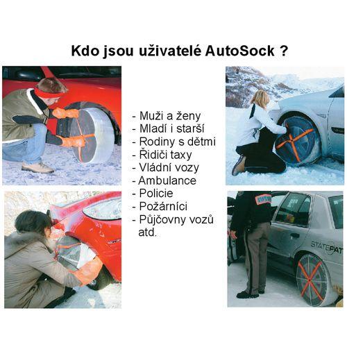 Textilní sněhové řetězy AutoSock velikost 645