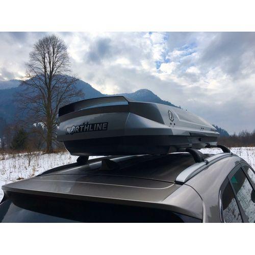 Střešní box Northline Tirol 420 Wing (lesklý stříbrný)