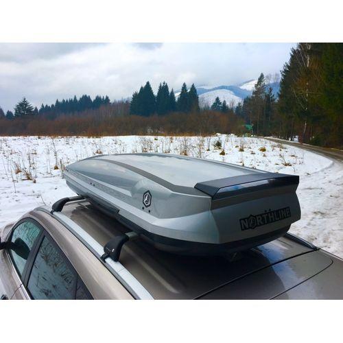 (Použitý) Střešní box Northline Tirol 420 Wing (lesklý stříbrný)